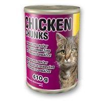 Delikan konzerva Cat Chicken Chunks 410g