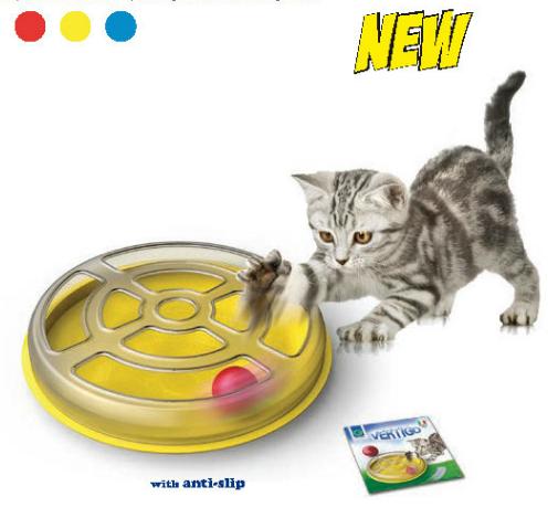 Hračka pro kočky s kuličkou VERTIGO průměr 29 x 5cm SIERA - Plast