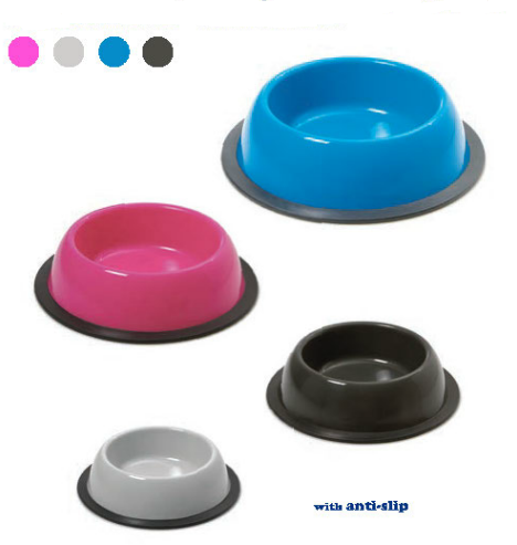 Miska kulatá SILVER Antislip 1 l SIERA - Plast