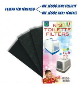 Náhradní filtry do toalet FILTRI TOILETTE 3 ks