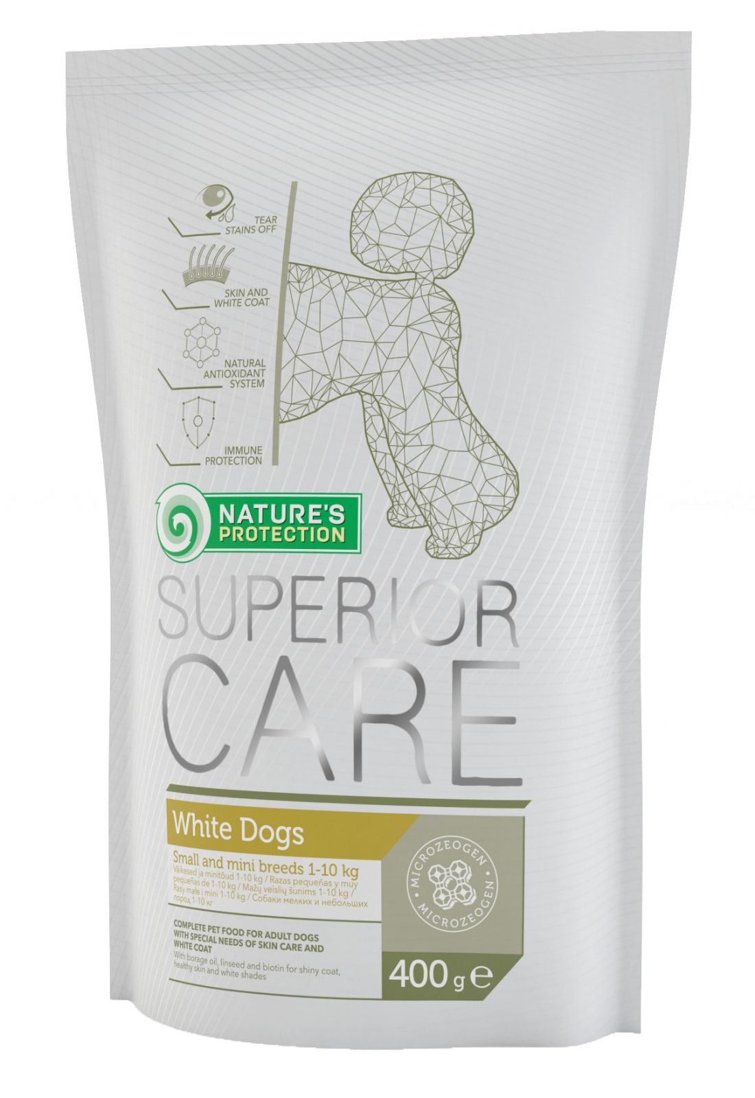 Natures Protection SC White Dog Adult Small&Mini Breeds 400g Nature´s Protection