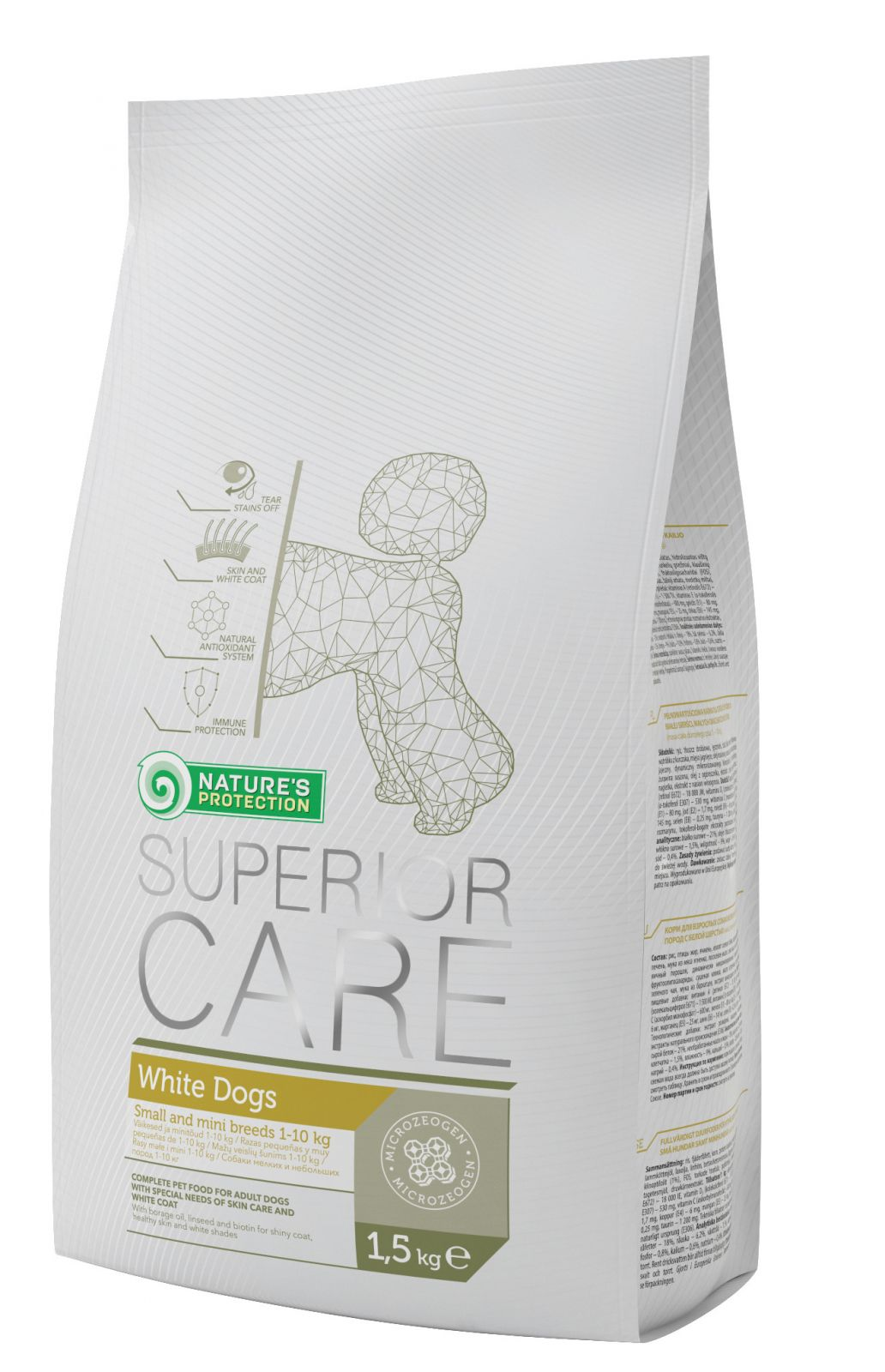 Natures Protection SC White Dog Adult Small&Mini Breeds 1,5kg Nature´s Protection