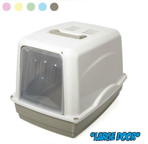 Toaleta pro kočky + filtr VICKY 54 x 39 x 39 cm SIERA - Plast