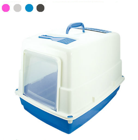 Toaleta pro kočky + filtr + stěrka TOILETTE HEIDI 54 x 39 x 39 cm SIERA - Plast