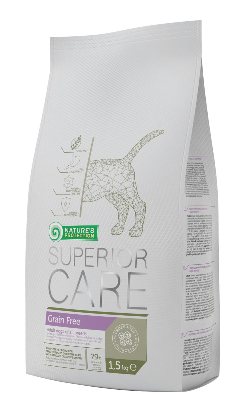 Natures Protection SC Dog Grain Free 1,5kg Nature´s Protection