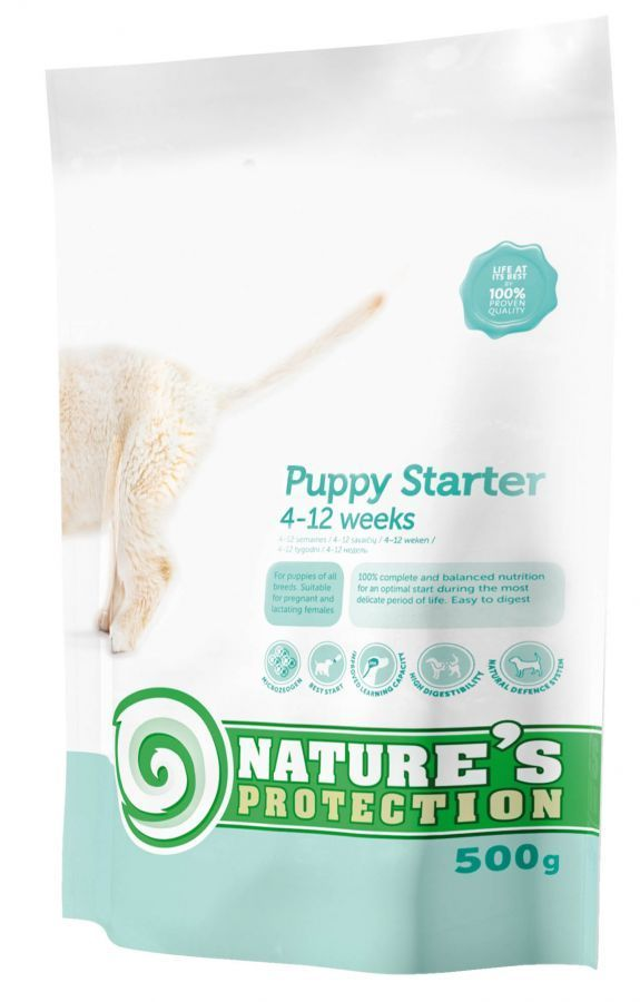 Natures Protection Dog Puppy Starter 500g - expirace 5/2017 (25ks) Nature´s Protection