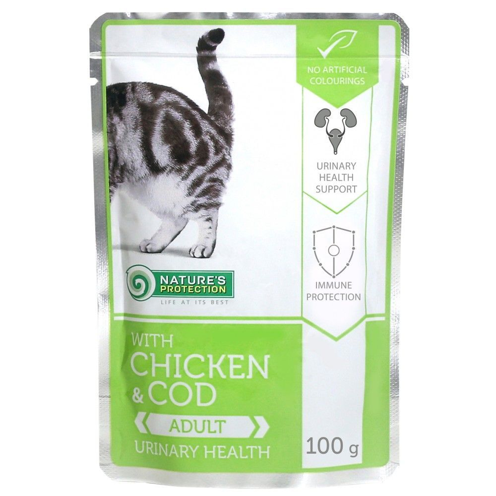 Natures Protection Cat kapsa Adult Chicken & Cod - Urinary Health 100g Nature´s Protection
