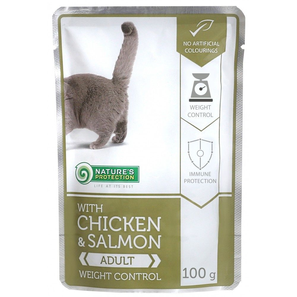 Natures Protection Cat kapsa Adult Chicken & Salmon - Weight Control 100g Nature´s Protection