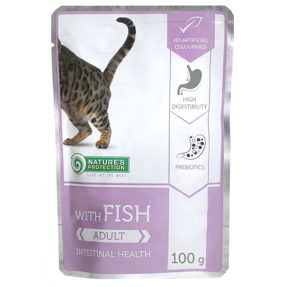 Natures Protection Cat kapsa Adult Fish - Intestinal Health 100g Nature´s Protection