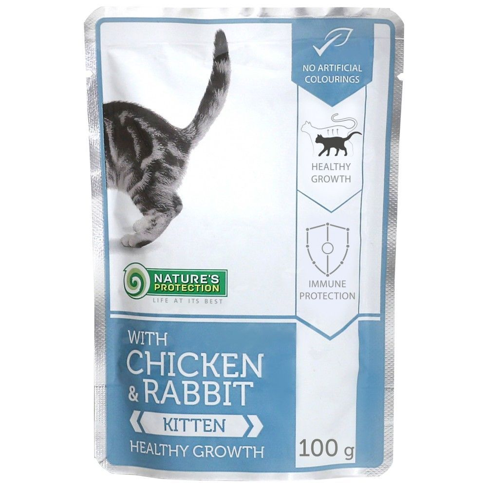 Natures Protection Cat kapsa Kitten Chicken & Rabbit - Healthy Growth 100g Nature´s Protection