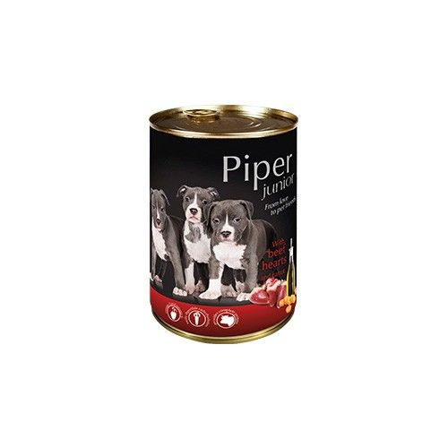 Piper Junior with Beef Hearts and Carrot 400g